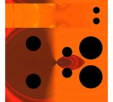 Orange Field/ Black Circles: Punctum 3. VividScene Photographic Print