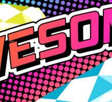 Crazy 80s AWESOME! sticker Sticker