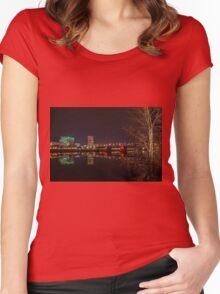 The Eastbank Esplanade in Portland, Oregon Women's Fitted Scoop T-Shirt