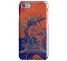 Abstract in green, blue and orange iPhone Case/Skin