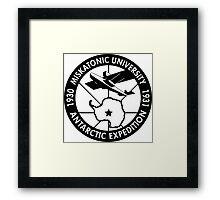 miskatonic university antarctic expedition logo Framed Print
