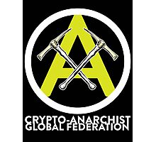 Crypto Anarchist Bitcoin Currency Litecoin Peercoin Dogecoin Ethereum  Photographic Print