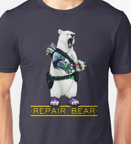 Repair Bear - Polar Bear Unisex T-Shirt