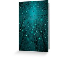 Silently, One by One, the Stars Blossomed (Geometric Stars Remix) Greeting Card
