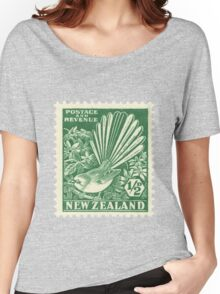 Fantail - New Zealand stamp Women's Relaxed Fit T-Shirt