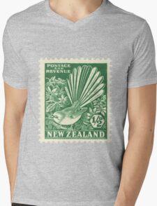 Fantail - New Zealand stamp Mens V-Neck T-Shirt