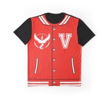 Pokémon Go Team Valor - Varsity Letterman Jacket Design Graphic T-Shirt