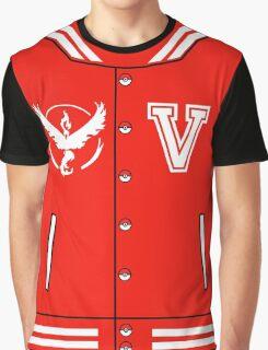 Pokémon Go Team Valor - Varsity Letterman Jacket Design Graphic T-Shirt