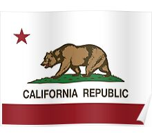 California Republic Flag Poster