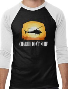 Apocalypse Now Quote - Charlie Don't Surf Men's Baseball ¾ T-Shirt