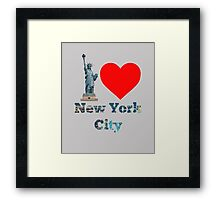 I Love New York City #NYC #NewYork #NYCLights #TimeSquare Framed Print