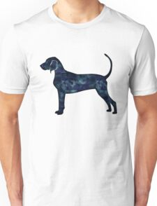 Bluetick Coonhound Black Watercolor Silhouette Unisex T-Shirt