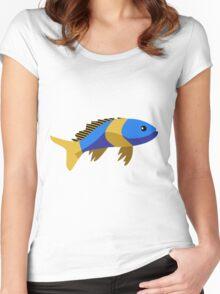 Cute fish cartoon Women's Fitted Scoop T-Shirt