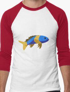 Cute fish cartoon Men's Baseball ¾ T-Shirt