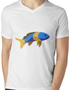 Cute fish cartoon Mens V-Neck T-Shirt