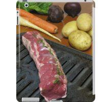 Eel River Organic Beef Tenderloin Roast with Vegetables iPad Case/Skin