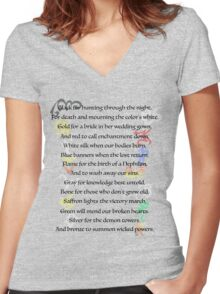 Shadowhunters Nursery Rhyme Women's Fitted V-Neck T-Shirt