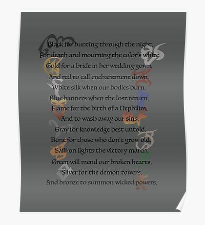 Shadowhunters Nursery Rhyme Poster