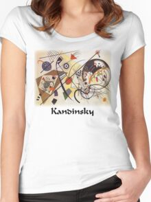 Kandinsky - Transverse Lines Women's Fitted Scoop T-Shirt