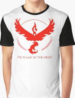Minimal Pokemon Go - Team Valor- fire, red, anime Graphic T-Shirt