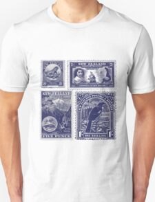 Four old New Zealand stamps Unisex T-Shirt