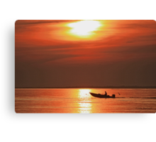 Fiery End to a Day of Fishing Canvas Print