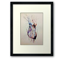 A Flood of Blood to the Heart Framed Print