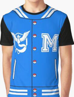 Pokémon Go Team Mystic - Varsity Letterman Jacket Design Graphic T-Shirt