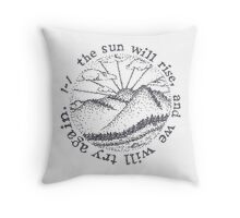 Stippled Truce Pen Design Throw Pillow