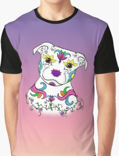 Staffordshire Bull Terrier Sugar Skull Graphic T-Shirt