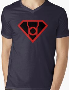 Red Lantern Super Mens V-Neck T-Shirt