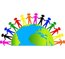Kids/People United On Earth Photographic Print