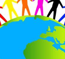 Kids/People United On Earth Sticker