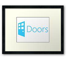 Doors (Windows Parody) Framed Print