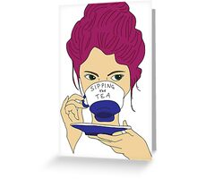 Sipping the Tea Greeting Card