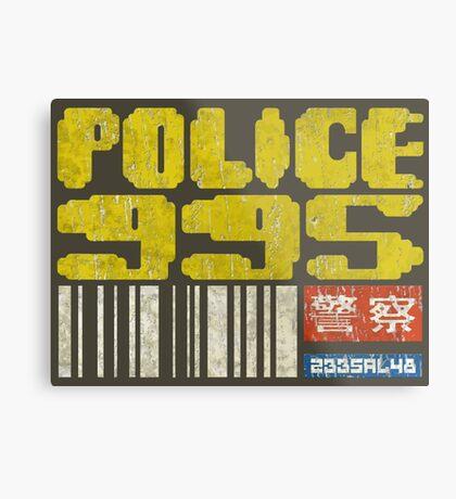 Blade Runner Police 955 Metal Print