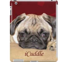 Cute iCuddle Pug Puppy Art, iPhone & iPad Cases iPad Case/Skin