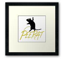 pee rat RETURNS Framed Print