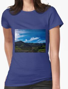 The Volcanic Hills Womens Fitted T-Shirt