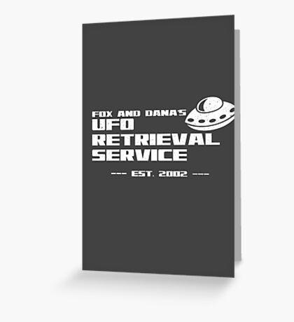 Fox and Dana's UFO Retrieval Service Greeting Card
