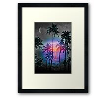 Dream of Paradise (Palm Tree Paradise) Framed Print