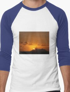 Sunset Island Men's Baseball ¾ T-Shirt