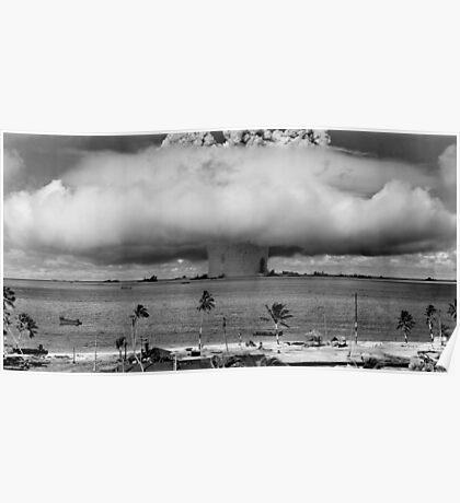 Bikini Atoll Nuclear Test Poster