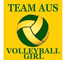 TEAM AUS VOLLEYBALL GIRL Photographic Print