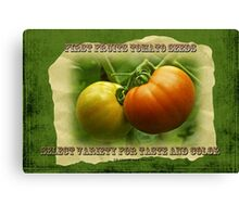 First Fruits Tomato Seeds Canvas Print