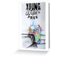 Watercolour Hightops Hand Painted Greeting Card