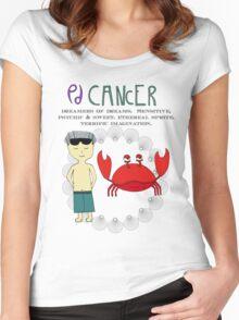 Children's Zodiac - Cancer Boy Women's Fitted Scoop T-Shirt