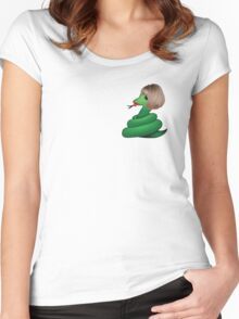 Snake Women's Fitted Scoop T-Shirt