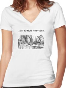 Welcome to the Tea Party! Women's Fitted V-Neck T-Shirt