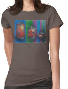 Crushed Can Earth Womens Fitted T-Shirt